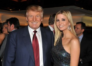 "NEW YORK - OCTOBER 14:  Donald Trump and Ivanka Trump attend the ""The Trump Card: Playing to Win in Work and Life"" book launch celebration at Trump Tower on October 14, 2009 in New York City.  (Photo by Andrew H. Walker/Getty Images)"
