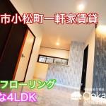 4LDK 南海本線松ノ浜駅泉大津駅2WAYアクセス可 ペット可の一軒家賃貸 室内動画公開中