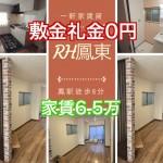 敷金礼金0円家賃6.5万円 鳳駅徒歩6分の室内最新設備の一軒家賃貸RH鳳東